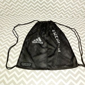 Adidas mesh pull string back pack standard size